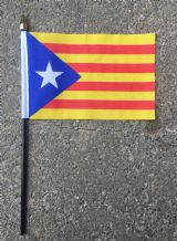 HAND WAVING FLAG (SMALL) - CATALAN INDEPENDENCE